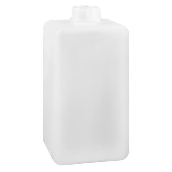 Flacon à produits chimiques 1500 ml à col étroit, PEHD couleur naturelle, avec bouchon GL 32