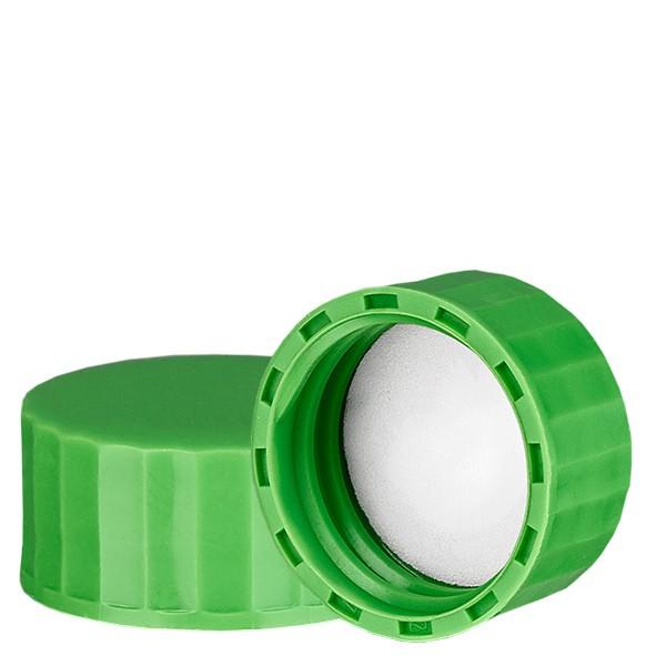 Bouchon à vis vert avec joint en PE, S27x3
