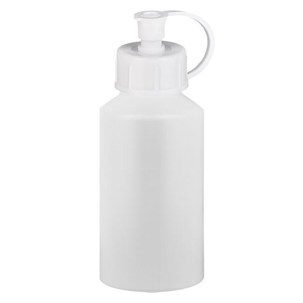 Flacon cylindrique en PET blanc 50 ml, S20x3, sans bouchon