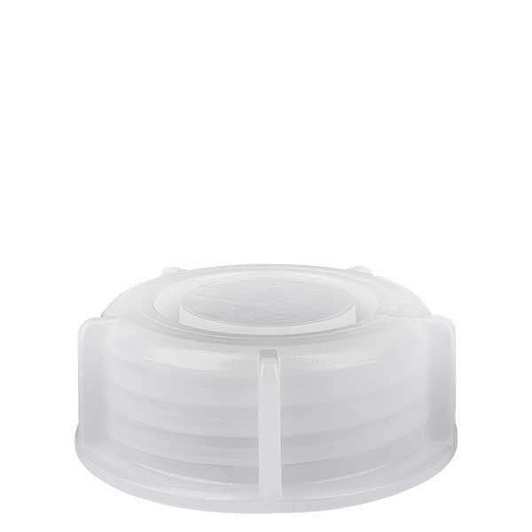 Bouchon à vis 40 mm transparent pour flacon à col large 250 ml