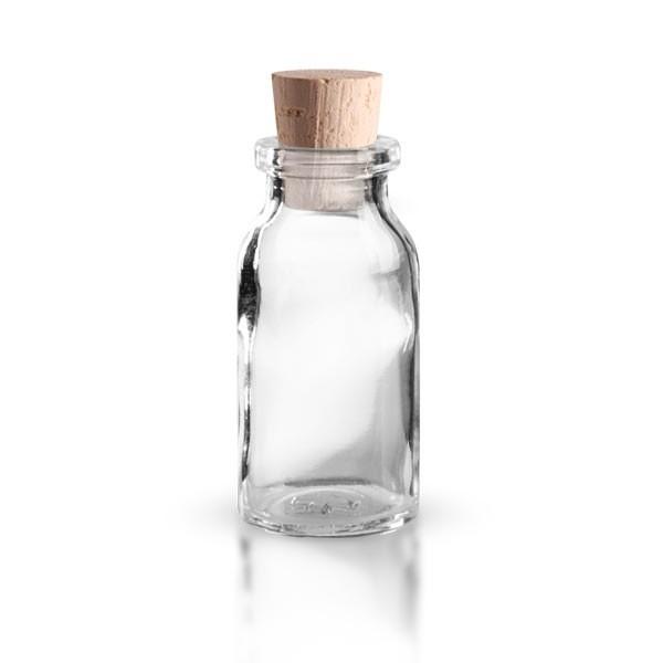 Injektionsflasche Klarglas 10ml mit Korken 11/14mm