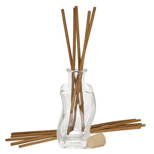 Flacon Altana 100ml + 10 bâtons à parfum foncés + bouchon de liège