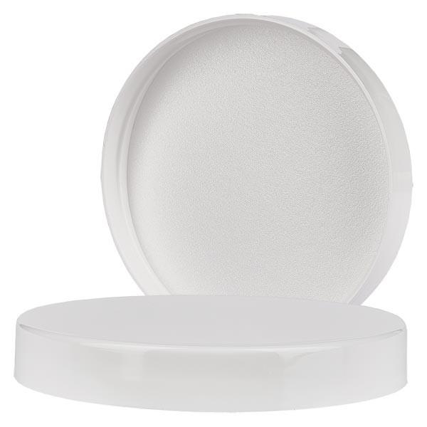 Couvercle à vis blanc filetage 70 mm, pour pots à vis en PET 250ml et 400ml