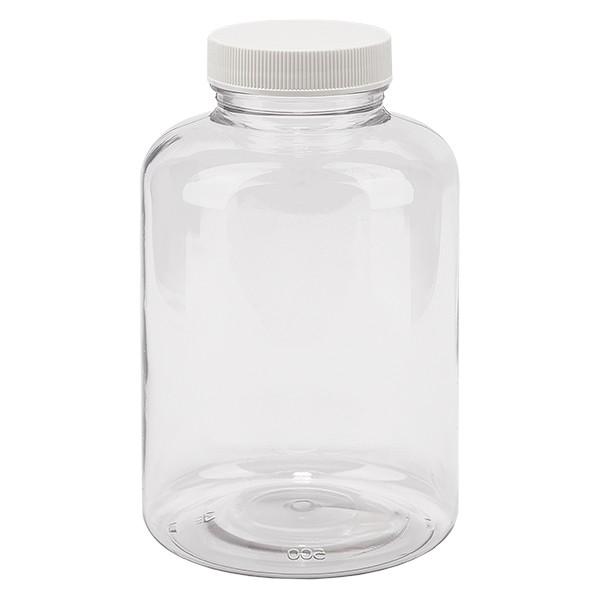 Pot Petpacker clair 500 ml, goulot 45 mm avec couvercle étanche SFYP