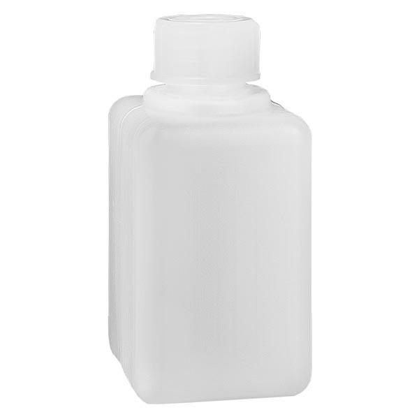 Flacon à produits chimiques 50 ml à col étroit, PEHD couleur naturelle, avec bouchon GL 18