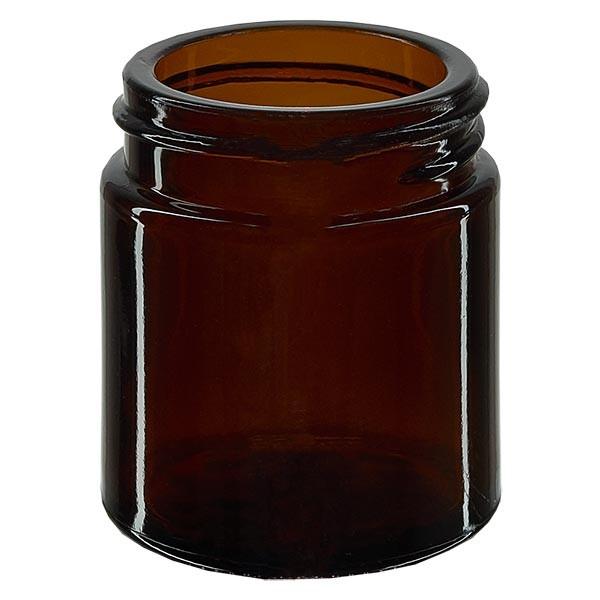 Pot en VERRE AMBRÉ 30 ml, filetage 38 mm / R3