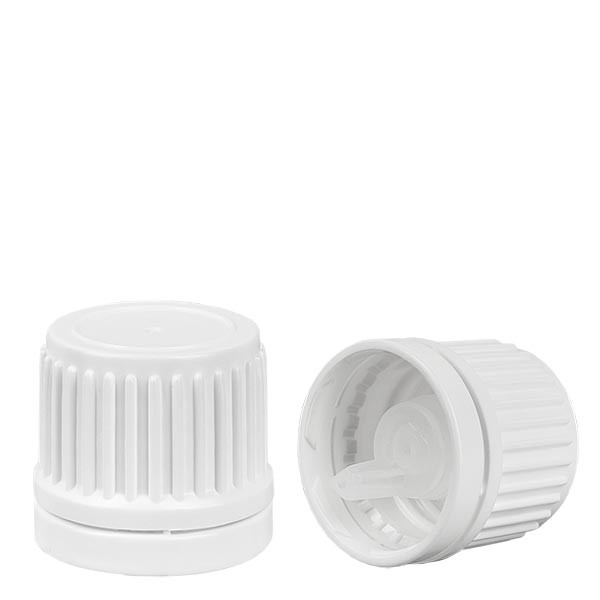 Bouchon compte-gouttes blanc 18mm inviolabilité