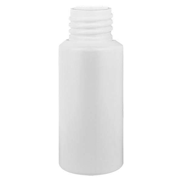 Flacon cylindrique en PET blanc 25 ml, S20x3, sans bouchon