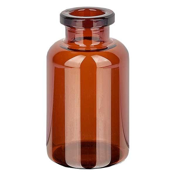 Flacon pour solution injectable, 20 ml en verre ambré
