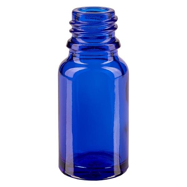 Flacon avec compte-gouttes 10 ml DIN18 - verre bleu