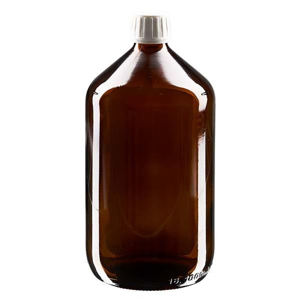 Flacon médical de 1000 ml avec bouchon blanc