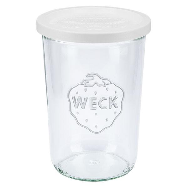 Bocal conique WECK 850 ml (3/4 L) avec couvercle en plastique