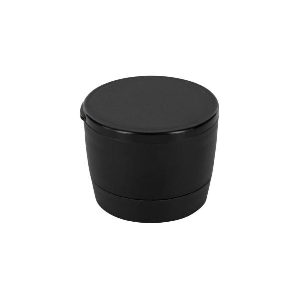 Mühlen-Schraubverschluss, schwarz, Mahlwerk aus Acryl, grob und fein einstellbar, 41mm, Standard