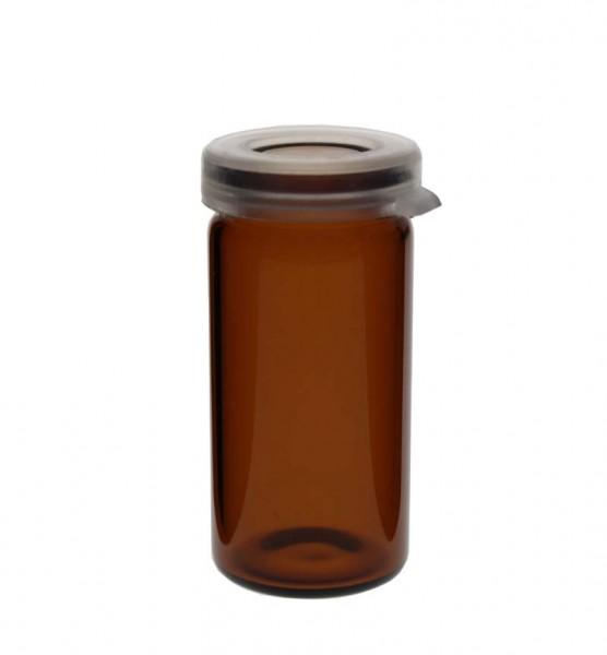 Pot à comprimés 5 ml ambré, avec bouchon à déclic