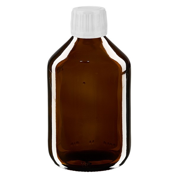 Flacon médical de 300 ml avec bouchon blanc