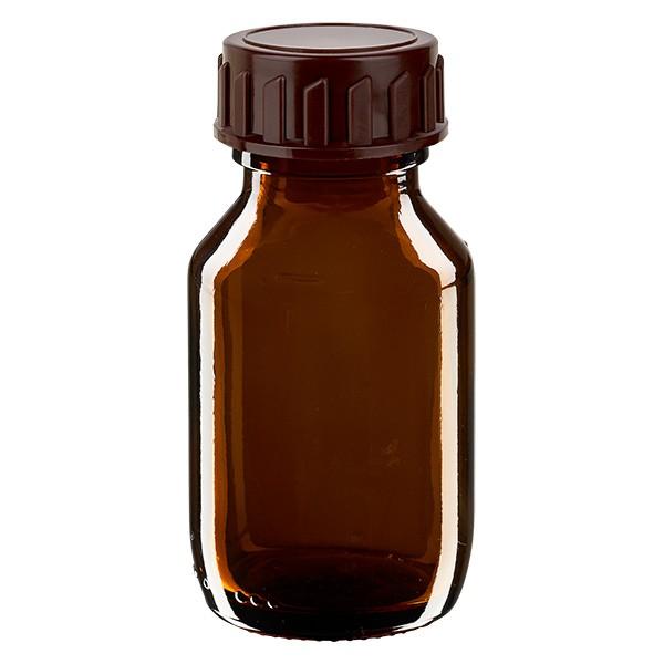 Flacon médical de 50 ml avec bouchon marron