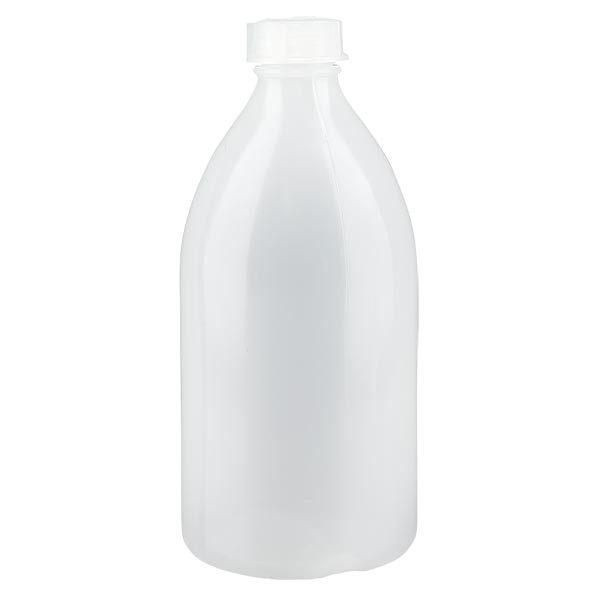 Flacon 500 ml à col étroit, avec bouchon