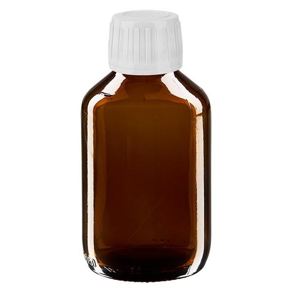 Flacon médical de 150 ml avec bouchon blanc