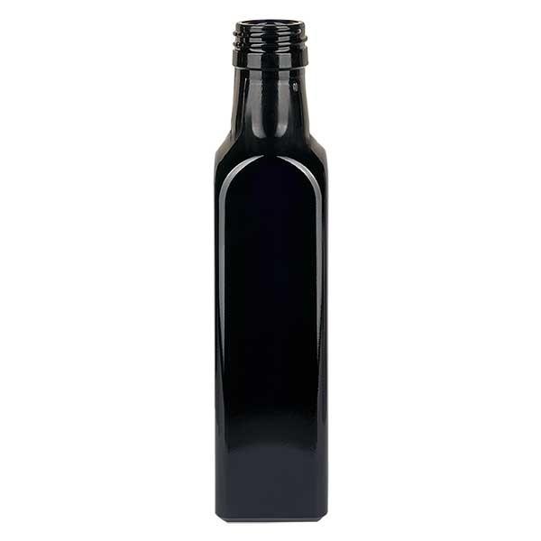 Bouteille d'huile rectangulaire en verre violet 500 ml, UNI 31,5x24