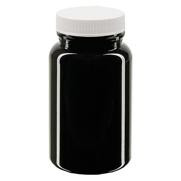 Pot Petpacker ambré 100 ml, goulot 38 mm avec couvercle étanche SFYP