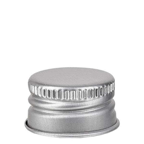 Capsule à vis PP 18 mm, aluminium argenté, standard