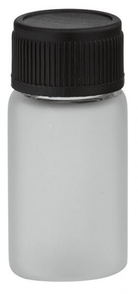 Mini flacon en verre givré 3 ml, filetage M13 avec bouchon à vis noir et joint d'étanchéité