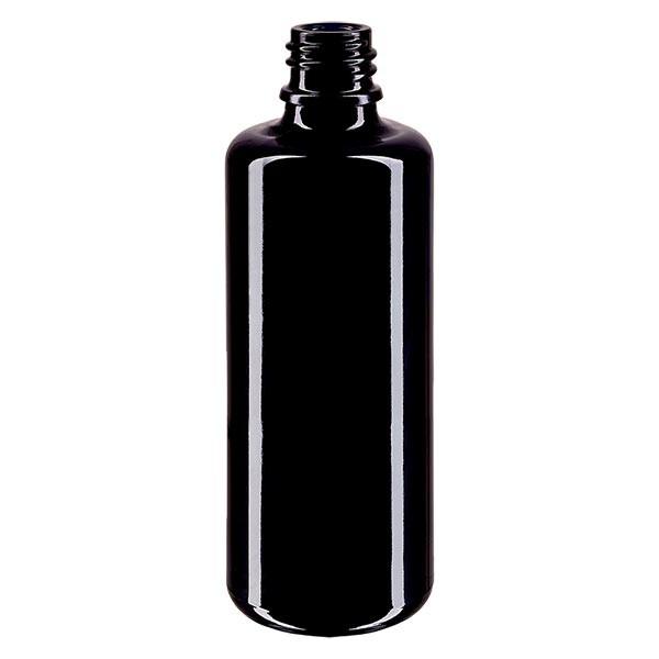 Flacon en verre violet 100 ml DIN18 (verre Miron)