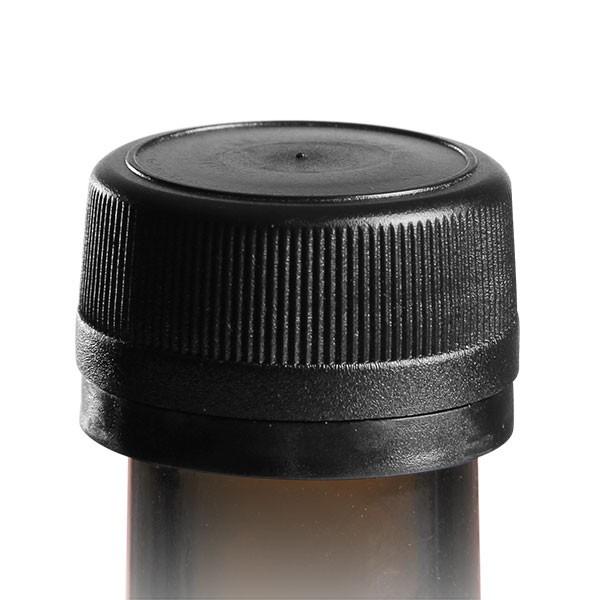 Schraubverschluss 31.5mm schwarz geriffelt