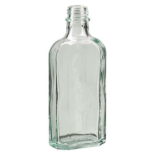 Flasque transparente de 125 ml au goulot DIN 22