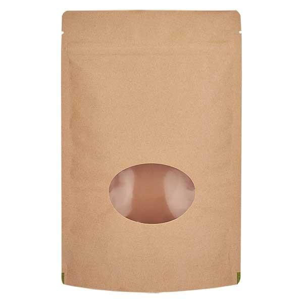 Sachet vertical en papier kraft marron (capacité : environ 150g / 130x210)