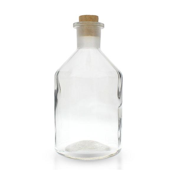 250ml Steilbrustflasche Enghals Klarglas mit Korken
