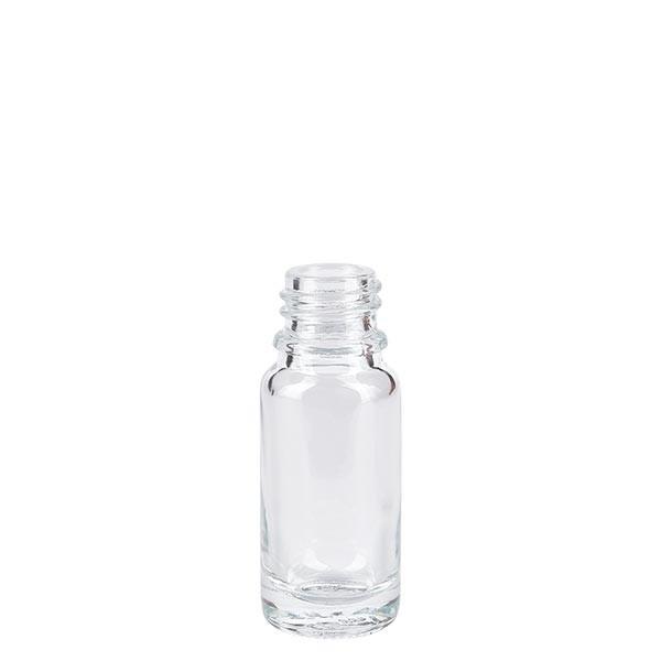 Flacon compte-gouttes 10 ml DIN18 - verre clair