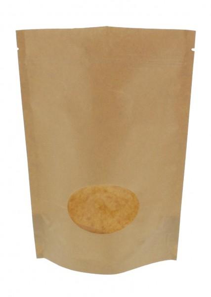 Sachet vertical en papier kraft marron (capacité : environ 500g / 190x263)