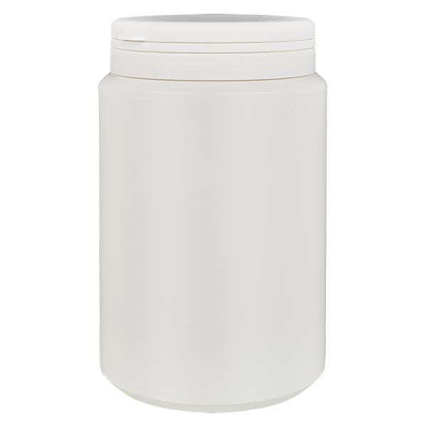 Boîte à comprimés blanche 1000ml + Jaycap inviolable blanc