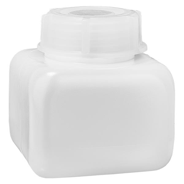 Flacon à produits chimiques 250 ml à col large, PEHD couleur naturelle, avec bouchon à vis GL 50