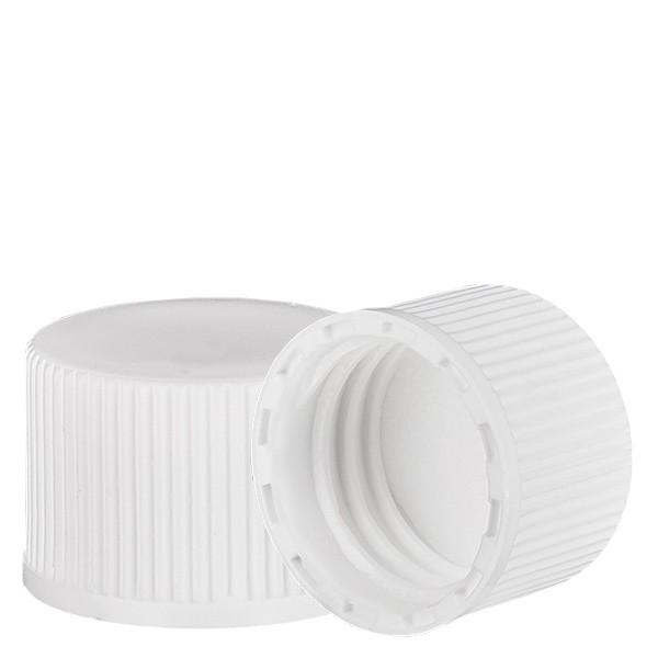 Bouchon à vis blanc avec joint en PE, S20x3