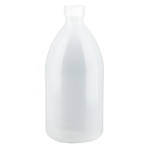 Flacon 1000 ml à col étroit, avec bouchon
