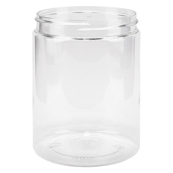 Pot à vis en PET clair 1000 ml, filetage 100 mm