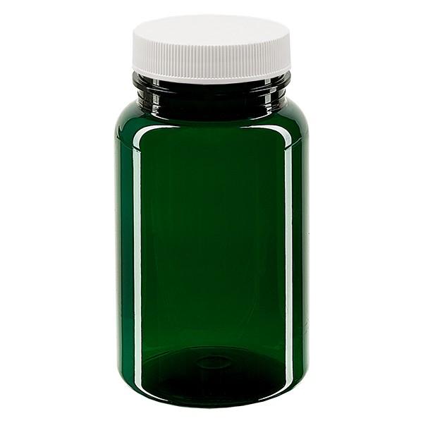 Pot Petpacker vert 100 ml, goulot 38 mm + couvercle auto-scellant et disque SFYP