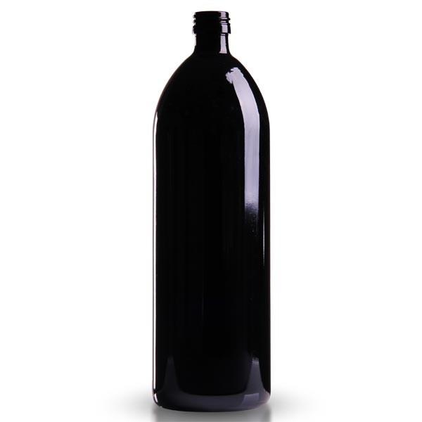 Wasserflasche Violettglas 1000 ml rund