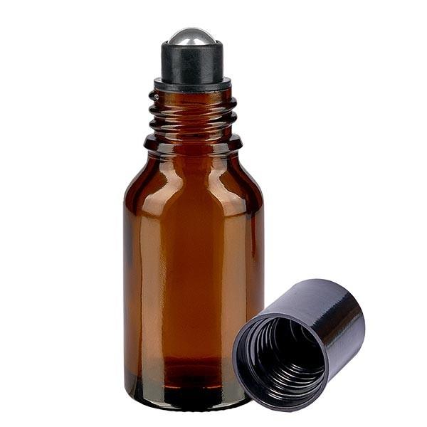 Flacon de déodorant en verre ambré 15 ml, déo à bille vide