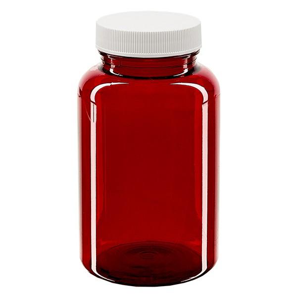 Pot Petpacker rouge 250 ml, goulot 45 mm avec couvercle étanche SFYP