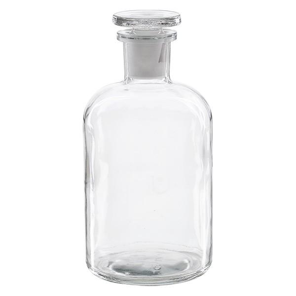 Flacon pharmaceutique 500 ml col étroit en verre clair + bouchon