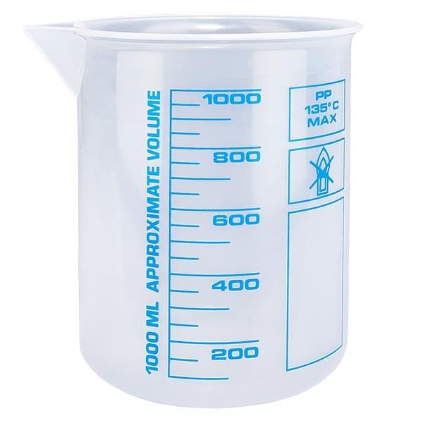 Verre mesureur en PP 1000 ml