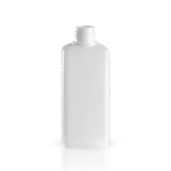 Kunststoffflasche - eckig - weiss - 250 ml