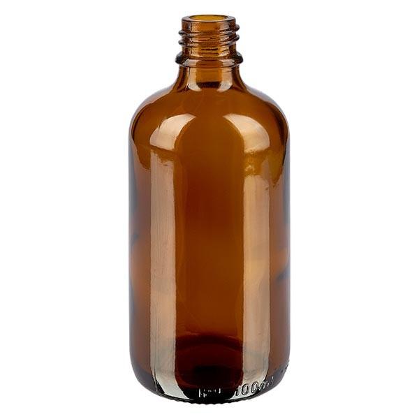 Flacon compte-gouttes 100 ml DIN18 - verre brun