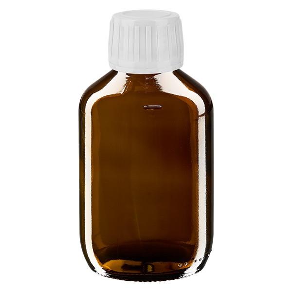 Flacon médical de 200 ml avec bouchon blanc