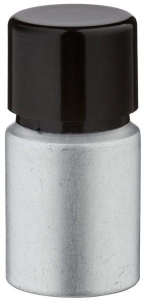 Bouteille en aluminium teinté 10 ml, avec bouchon à vis noir et joint conique