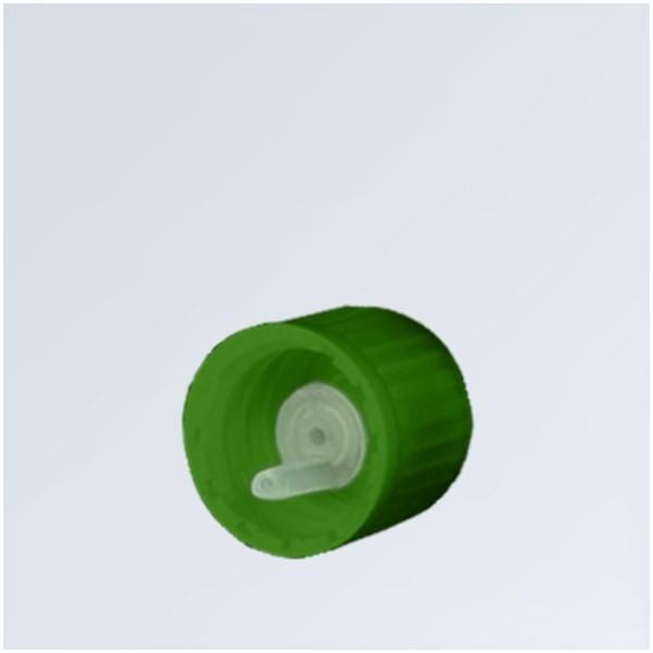 Bouchon compte-gouttes 0,8mm vert 18mm standard