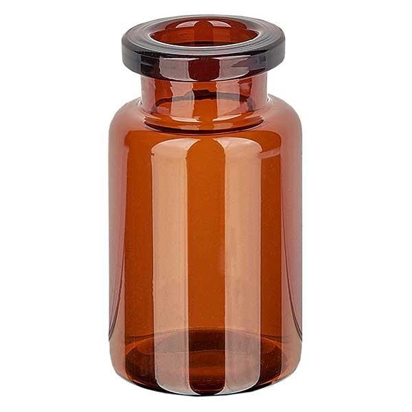 Flacon d'injection brun, 10 ml en verre étiré type I